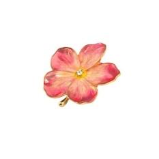 Jual Bolehdeals Fashion Wanita Bunga Paduan Seng Bros Pin Charm Pink Breastpin Prem Bunga Internasional Import