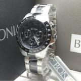 Jual Bonia Jam Tangan Pria Bonia Bpt176 1334C Silver Black Stainless Steel Baru
