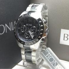 Bonia Jam Tangan Pria Bonia Bpt176 1334C Silver Black Stainless Steel Dki Jakarta Diskon 50