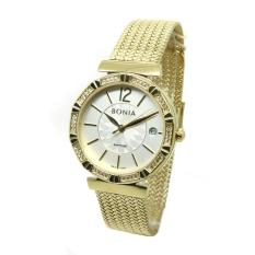 Bonia - Jam Tangan Wanita - Gold-Putih - Stainless Steel - BNB10354-2215S