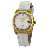 Harga Bonia Jam Tangan Wanita Gold Putih Strap Putih B10007 2262L Original