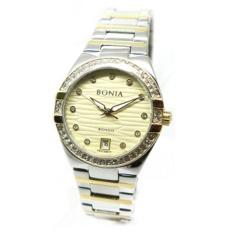 Bonia - Jam Tangan Wanita - Silver Komb Gold-Gold - Stainless Steel - BNR107-2127S