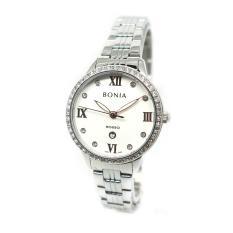 Bonia - Jam Tangan Wanita - Silver-Putih - Stainless Steel - BNB10283-2313S