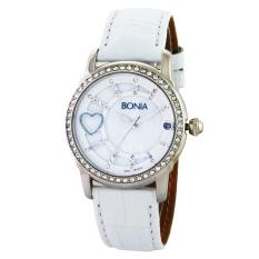 Bonia Ladies Elegant Jam Tangan Wanita - Kulit - Putih - B10014-2359S SIL