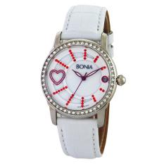 Bonia Ladies Elegant Jam Tangan Wanita - Kulit - Putih - B10014-2369V RD