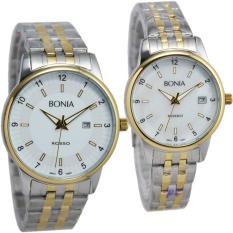 Bonia Rosso - Jam Tangan Wanita - Silver Komb Gold-Ring Gold - Stainless Steel - BNB10101IDR1850000. Rp 2.125.750