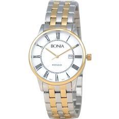 Bonia Rosso - Jam Tangan Wanita - Silver Komb Gold-Ring Gold - Stainless Steel
