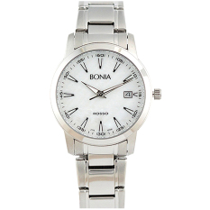 Bonia Rosso - Jam Tangan Wanita - Silver - Putih - Stainless Steel - BNB10100-2352