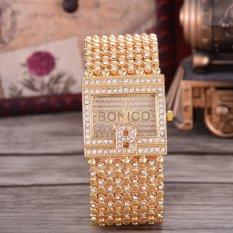 Toko Bonico Jam Tangan Wanita Body Gold Gold Dial Gold Alloy Band Bnc 1967A Gg Gold Lengkap