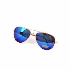 Bos online Kacamata Rangka Gold Cop Pilot Style - Lensa Biru