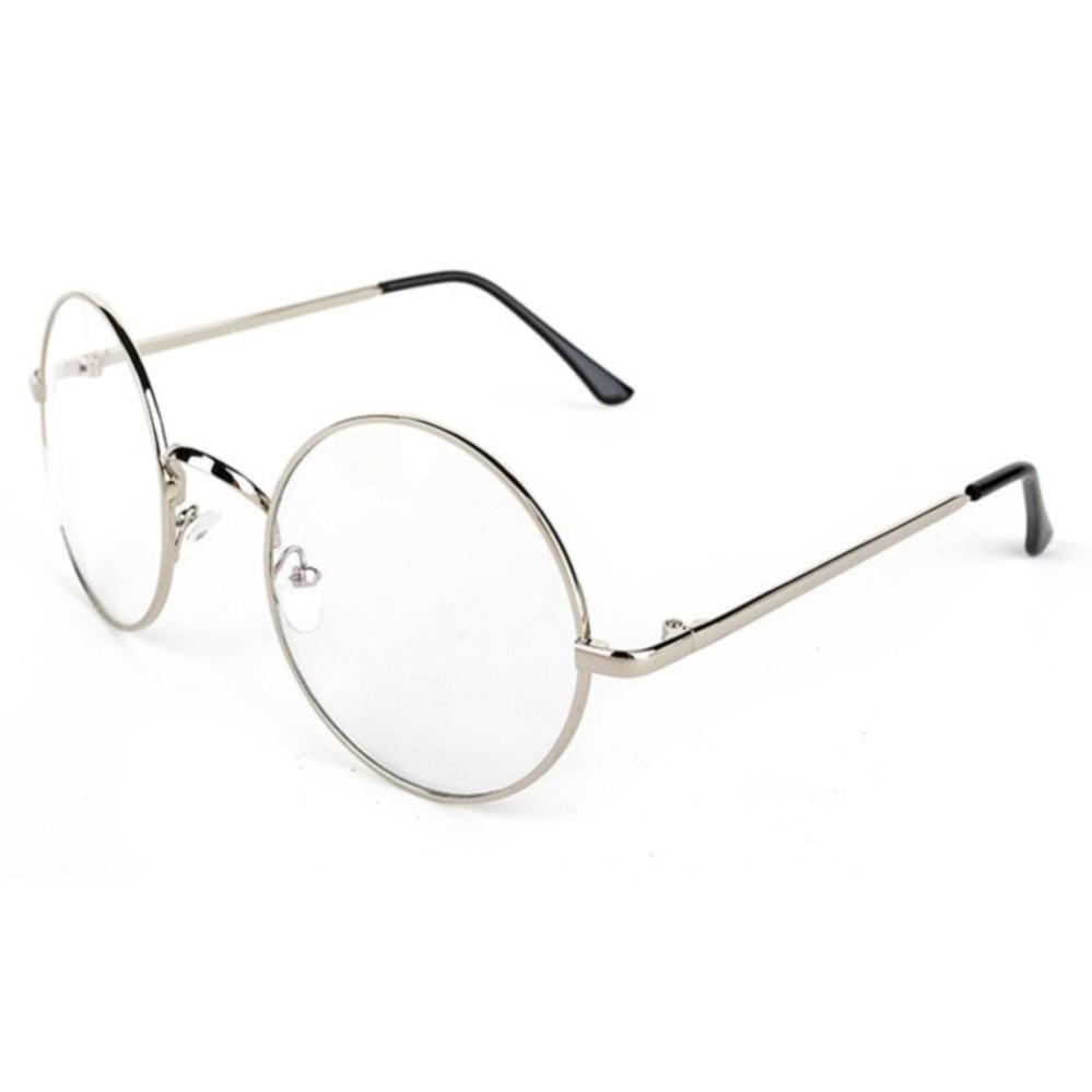 Bos Online Korea Fashion Style - Kacamata Bulat - Fashion - Unisex - Silver  - Clasic 500fd51a81