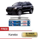 Bosch Sepasang Wiper Mobil Hyundai Tucson Jm Frameless New Clear Advantage 24 16 2 Buah Set Free Kanebo Bosch Bosch Diskon