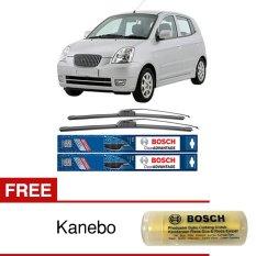 Spesifikasi Bosch Sepasang Wiper Depan Frameless New Clear Advantage Mobil Kia Picanto Ba 22 16 2 Pcs Set Free Kanebo Bosch Baru