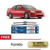 Harga Bosch Sepasang Wiper Frameles Clear New Advantage Mobil Honda Civic Es 20 18 2Buah Set Hitam Free Kanebo Bosch Terbaik