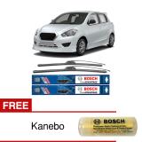 Iklan Bosch Sepasang Wiper Frameless New Clear Advantage Datsun Go Panca 20 16 2Buah Set Hitam Free Anebo Bosch