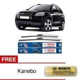 Cara Beli Bosch Sepasang Wiper Frameless New Clear Advantage Mobil Chevrolet Captiva 24 16 2Buah Set Hitam Free Kanebo Bosch