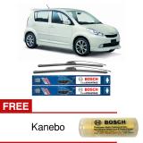 Bosch Sepasang Wiper Frameless New Clear Advantage Mobil Daihatsu Sirion 21 17 2Buah Set Hitam Free Kanebo Bosch Indonesia Diskon 50