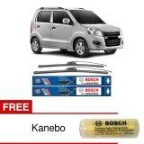 Beli Bosch Sepasang Wiper Frameless New Clear Advantage Mobil Suzuki Karimun Wagon R 20 18 2Buah Set Hitam Free Kanebo Bosch Online Murah