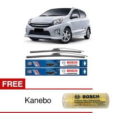 Bosch Sepasang Wiper Mobil Toyota Agya Frameless New Clear Advantage 20