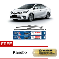 Bosch Sepasang Wiper Frameless New Clear Advantage Mobil Toyota Corolla Altis 22