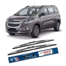Jual Bosch Sepasang Wiper Kaca Mobil Chevrolet Spin Advantage 21 18 2 Buah Set Hitam Murah