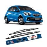 Review Terbaik Bosch Sepasang Wiper Kaca Mobil Honda Brio Satya Advantage 22 14 2 Buah Set Hitam