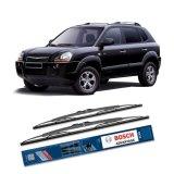 Jual Beli Bosch Sepasang Wiper Kaca Mobil Hyundai Tucson Jm 2004 2010 Advantage 24 16 2 Buah Set Hitam