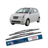 Jual Bosch Sepasang Wiper Kaca Mobil Kia Picanto Ba 2004 2011 Advantage 22 16 2 Buah Set Hitam Bosch Ori