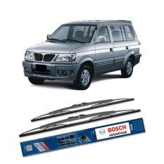 Beli Bosch Sepasang Wiper Kaca Mobil Mitsubishi Kuda Advantage 20 19 2 Buah Set Hitam Murah