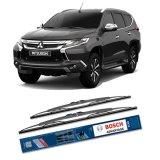 Beli Bosch Sepasang Wiper Kaca Mobil Mitsubishi Pajero Sport Advantage 20 20 2 Buah Set Hitam Online Terpercaya