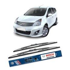 Bosch Sepasang Wiper Kaca Mobil Nissan Grand Livina L10 Advantage 24