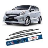 Diskon Bosch Sepasang Wiper Kaca Mobil Toyota Agya Advantage 20 14 2 Buah Set Hitam