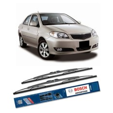 Spek Bosch Sepasang Wiper Kaca Mobil Toyota Vios 2003 2007 Advantage 22 14 2 Buah Set Hitam