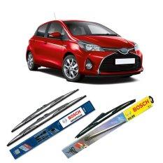 Promo Bosch Wiper Advantage Depan Belakang Mobil Toyota Yaris Set 24 14 H307 12 3 Buahset Hitam
