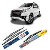Toko Bosch Wiper Advantage Depan Belakang Mobil Toyota Rush Set 21 18 H307 12 3 Buah Set Hitam Termurah