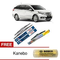 Bosch Wiper Depan & Belakang Kaca Mobil Honda Mobilio Advantage 22