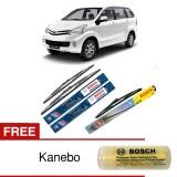 Harga Bosch Wiper Depan Belakang Kaca Mobil Toyota New Avanza Advantage 21 14 H352 3 Buah Set Free Kanebo Baru