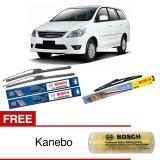 Spesifikasi Bosch Wiper Depan Frameless New Clear Advantage Belakang Set For Mobil Toyota Kijang Innova 24 16 H307 3 Pcs Set Free Kanebo Bosch Online
