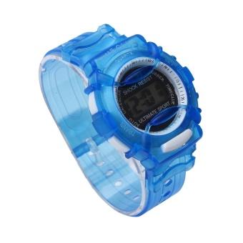 Price Checker Laki-laki Perempuan Anak-anak Siswa Tahan Air Digital Wrist Jam Tangan