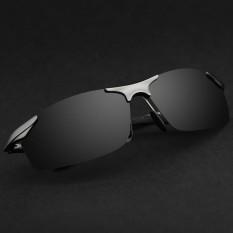 Brand Aluminum Polarized Sunglasses Men Sports Sun Glasses Driving Mirror Goggle Eyewear (black)  - intl