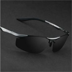 Merek Aluminium Terpolarisasi Kacamata Pria Olahraga Kacamata Matahari Mengemudi Cermin Goggle Kacamata-Intl