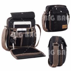 Tas Selempang Braun Fox Canvas Multifunction Shoulder Bag BP-05 - Dark Grey BP-05 Tas Pria Tas Bahu Tas Messenger Tas Slempang Tas Fashion Pria