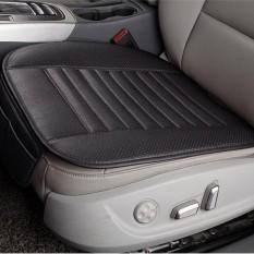 Breathable PU Leather Arang Bambu Interior Mobil Alas Tempat Duduk Bantalan Dudukan untuk Auto Supplies Kursi Kantor Warna: Hitam & Nbsp; -Intl