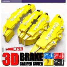 4 Pcs Baru ABS Cakram Universal Penutup Kaliper Rem Depan & Belakang (Kuning)-
