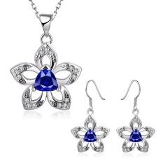 Perhiasan Pengantin Online untuk Wanita Pesta Tembaga Kalung/Anting-Anting Anting-Anting Kalung Tanaman Gold Berlapis-Internasional