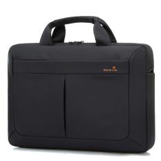 Brinch Sutra Berkualitas Tinggi Nylon Pria Wanita Satu Bahu Tas Laptop Case Shockproof Notebook Cover Digital Penyimpanan Laptop Handbag 15.6 Inch (Hitam) (Intl)