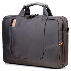 BRINCH (TM) 14 Inch Laptop Soft Water Nylon Waterproof Case Cover Lengan Tali Bahu Bag dengan Side Pockets Menangani dan Dilepas untuk Laptop/Notebook/NetBook/Chromebook (Abu-abu) (Intl)