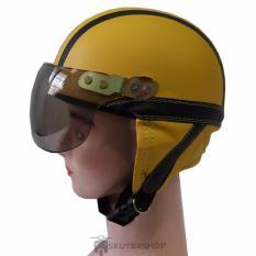 Jual Broco Helm Anak Anak Bro Co Shincan Polos Lucu Kuning Garis Hitam Kuning Jawa Timur Murah