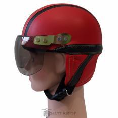 Harga Broco Helm Anak Anak Bro Co Shincan Polos Lucu Merah Garis Hitam Merah Seken