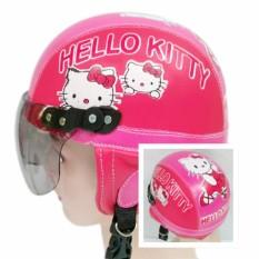 Broco Helm Anak anak broco retro kaca riben lucu usia 1 sampai 4 tahun Motif Hello Kitty - Pink/Merah